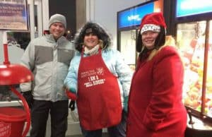 Steel King staff ringing bells for Salvation Army