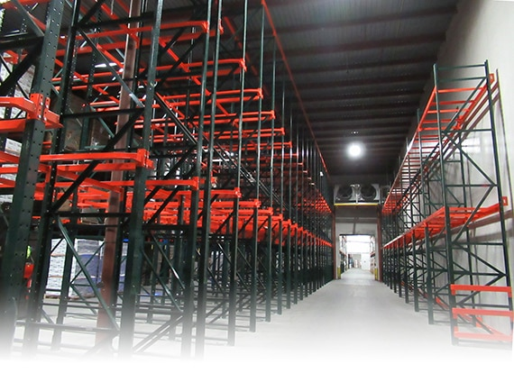warehouse with drive-in rack